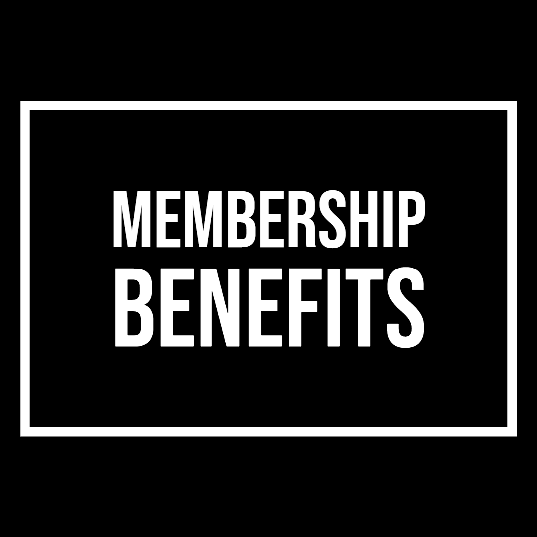 Text image that reads Membership Benefits.
